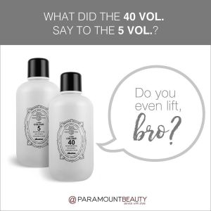 What did the 40 volume say to the 5 volume? Do you even lift bro?